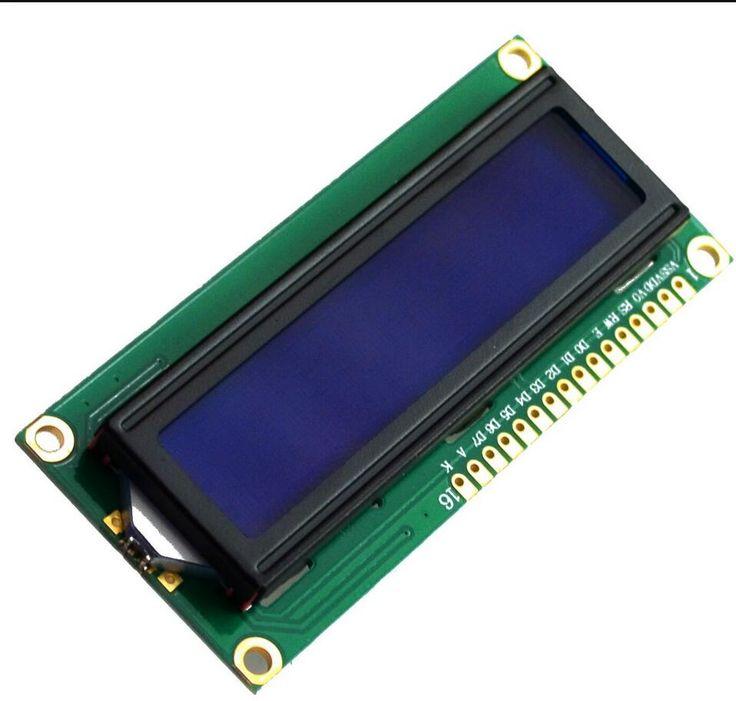 1 قطع شاشة lcd1602 lcd رصد 1602 5 فولت الأزرق والأبيض كود لاردوينو