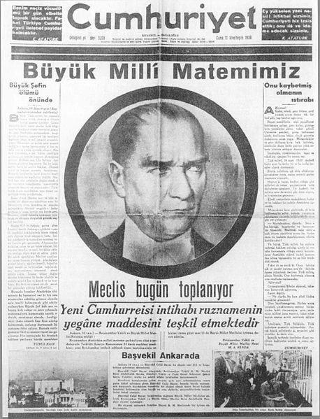 10 Kasım Atatürk'ün Ölüm Yıl Dönümü