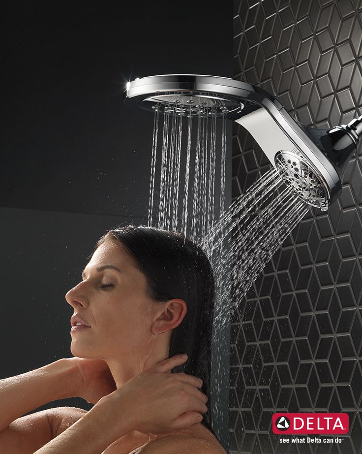 Hydrorain H2okinetic Two In One Shower Head Shower Heads Delta Shower Heads Dual Shower Heads