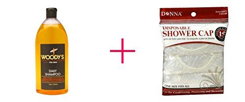 Woodys Daily Shampoo for Men Normal to Oily Hair  Scalp 2pc AND Donna Shower Cap Clear  BUNDLE *** Check out this great product.(This is an Amazon affiliate link and I receive a commission for the sales)