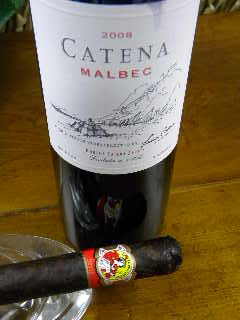 Cigar and Beverage Pairings: A Cigar and Wine Review: La Gloria Cubana Serie R No. 7 and Catena Malbec 2008