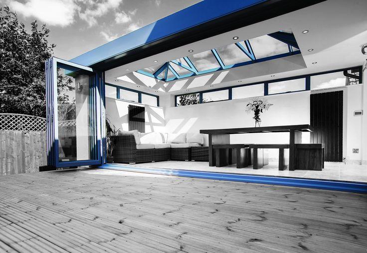 Save money on matching bi-fold patio doors and roof lantern skylights with the stunning ECO+ range.