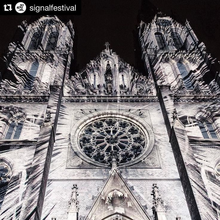 Signal festival in #Prague starts today! Dont miss amazing video mapping projection on the facade of St. Ludmila Church. It runs every 15 minutes from 7pm to 11pm.