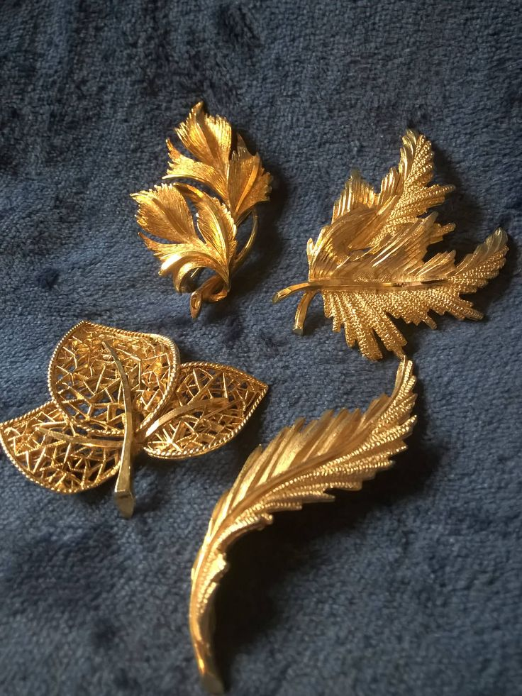 Vintage Brooches, Gold Tone, Retro Brooches, Leaves, Filigree, Mid Century, Jewellery, Gift Idea, Collectible by TillyofBloomsbury on Etsy