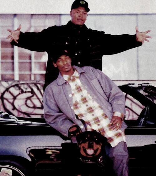 Old scool pica Dr. Dre & Snoop Dogg