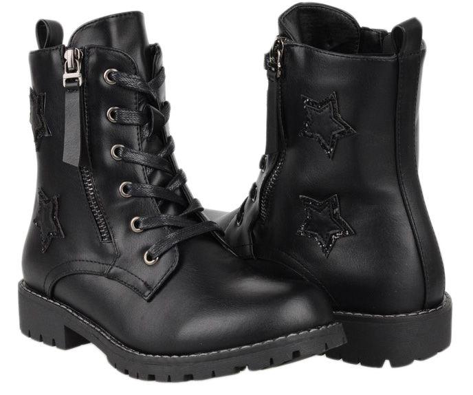 Trzewiki Botki Czarne Sergio Leone 0017 01p 32 7015550978 Oficjalne Archiwum Allegro Combat Boots Boots Shoes