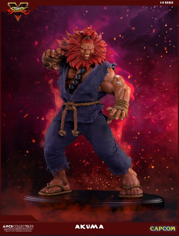 PCS Collectibles Previews Street Fighter 10th Anniversary Akuma Statue