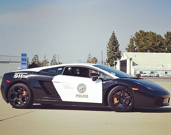Lamborghini Gallardo Police Car by LAPD. Cop cars just get more and more luxurious