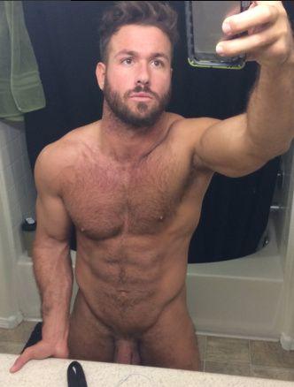 Naked Blonde hunk
