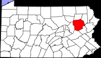 Location of Luzerne County in Pennsylvania - Goss Family Name (Gregory)
