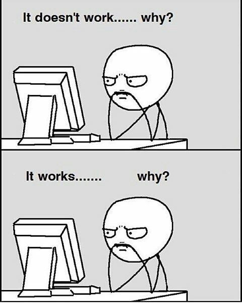 Me trying to code.