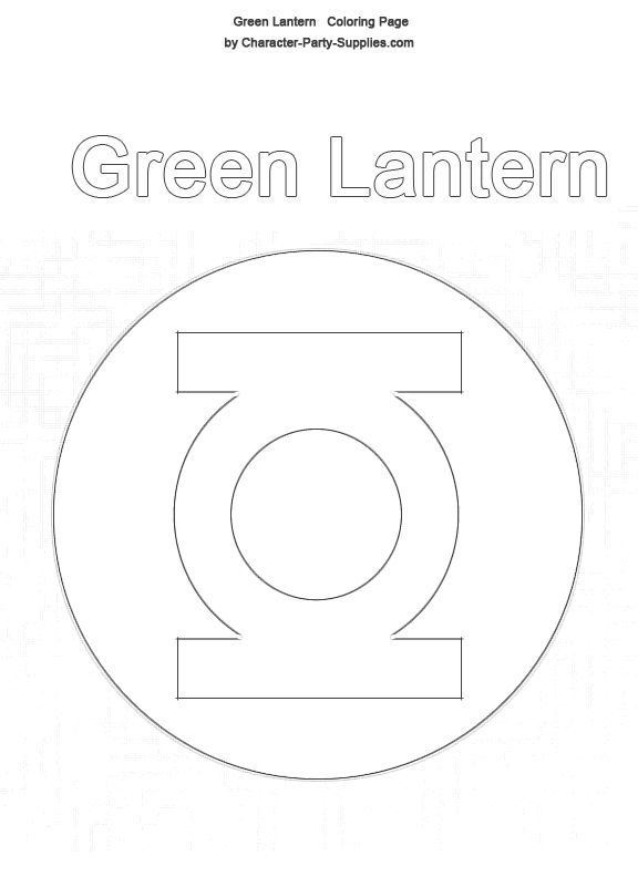 21 best images about coloring pages on pinterest for Green lantern coloring page