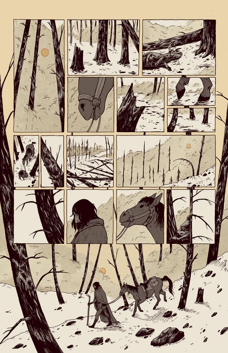 A pretty but moody and excellently planned panel layout.