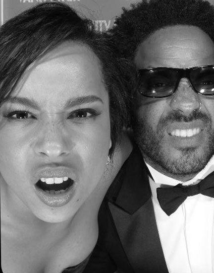 Zoe & Lenny Kravitz.  Photos: Outtakes from the Vanity Fair Oscar-Party Photo Booth   Vanity Fair