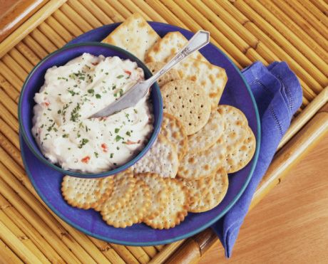 Crab Dip Recipe - Dip with Crab and Cream Cheese and Garlic ~ INGREDIENTS ~ 1 package (8 ounces) cream cheese, softened ~ 1/4 cup mayonnaise ~ 3 tablespoons milk ~ 1/4 teaspoon salt ~ 1/8 teaspoon garlic powder ~ dash cayenne pepper or Tabasco sauce, or to taste ~ 1 can (7 1/2 oz) crab meat, drained, cartilage removed, finely chopped ~ Prep Time: 10 minutes