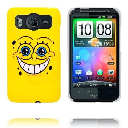 Happy Cartoon (Gul) HTC Desire HD Deksel