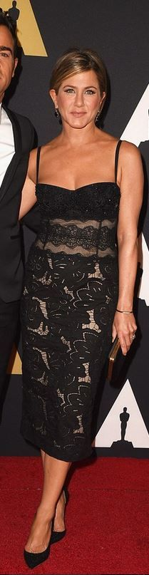 Jennifer Aniston's black lace dress