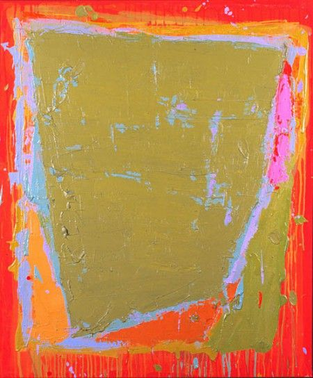 John Hoyland England - 70-79, 28.12.74, 48 x 40, Acrylic on canvas