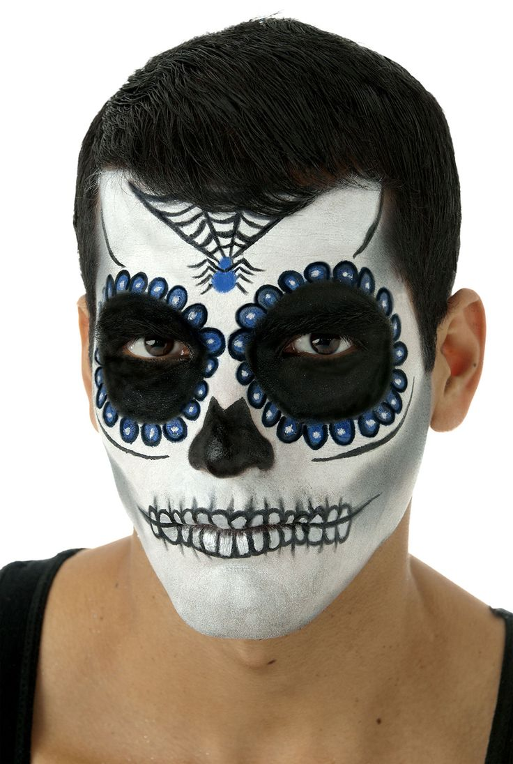 Get ready for several holiday events by wearing the Blue Day of the Dead Makeup Kit. This kit includes everything needed to make you look your best for a Halloween spook-fest that will prove successfu