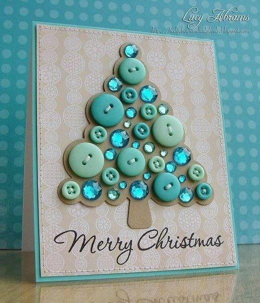 Cartão de natal em botoes Botões - Blog Pitacos e Achados - Acesse: https://pitacoseachados.wordpress.com - https://www.facebook.com/pitacoseachados - https://plus.google.com/+PitacosAchados-dicas-e-pitacos - #pitacoseachados