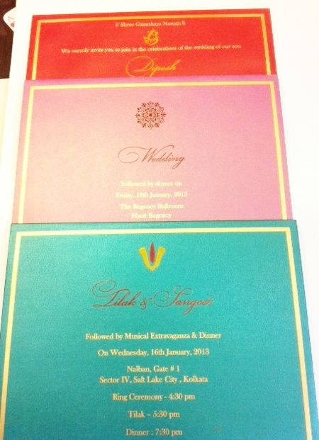 Indian Wedding Invitations by K Paper | Hyegraph loveeeee the colourful design!!!