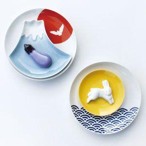 small plate & chopstick holder