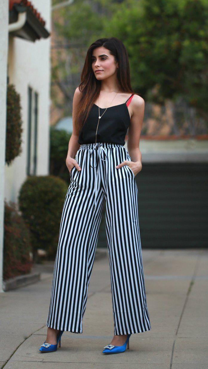 b5bcf9491c Pantalones anchos mujer ¡17 Hermosos look juveniles!