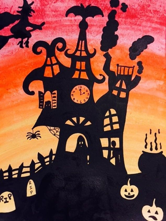 Spooky Victorian Houses Complete Lesson House Art