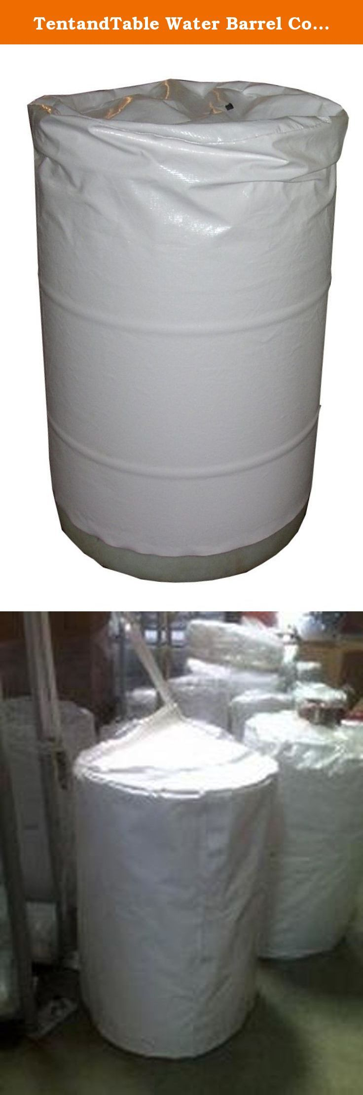 TentandTable Water Barrel Cover for 55 Gallon Barrel- Free Shipping. The The Barrel Bag is specifically designed to cover and protect 55 gallon water barrels, as well as the open lid 55 gallon barrels used for food and emergency storage supplies. There is no longer a need to throw those cumbersome drops and tarps over your barrels in order to try and protect them from the beating sun and unstable windy weather. Many barrels over a short period of time, especially those stored outside…