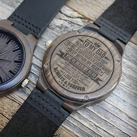 94cc0b8d459 To my dad wooden watch