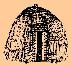 History: This pin shows a hut that would have been used to live in by ancient tribes. These tribes may have been khoe khoe or khoi khoi. The tribes were very smart and resourceful when they made houses.