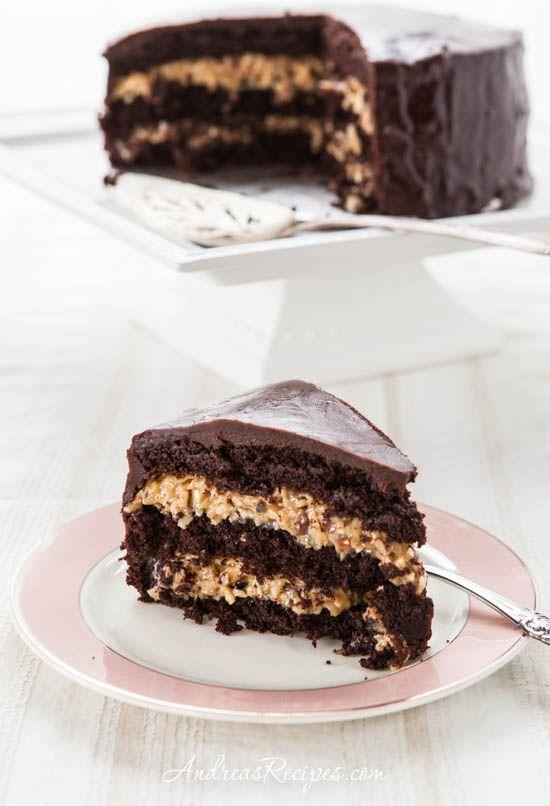 Inside-Out deutscher Schokoladenkuchen mit Kokos-Pekannuss-Dulce-de-Leche-F … – Dinner