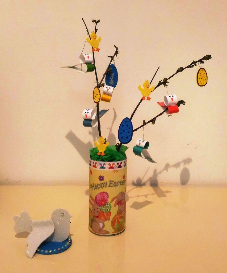 pasqua decorazioni colomba albero uova uccellini