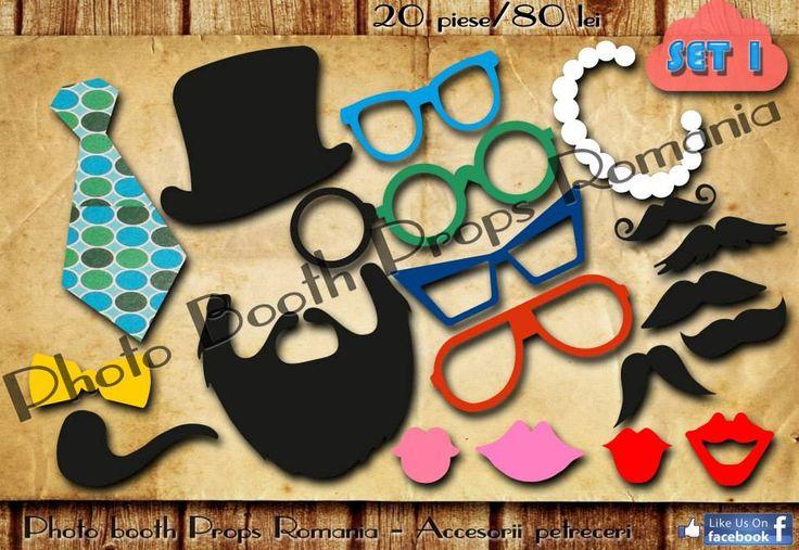 Propspuri pentru petrecere Set 1  20 de piese 80 lei Vizitati pagina de facebook https://www.facebook.com/PhotoPropsBucuresti