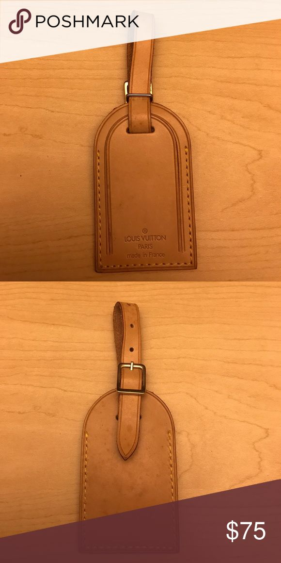 Nice Authentic Louis Vuitton Luggage Tag