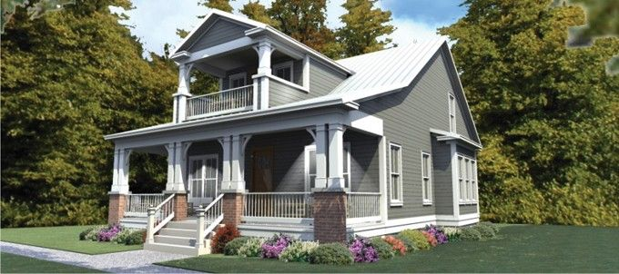 ePlans Craftsman House Plan – Cozy Craftsman with an Upstairs Porch–2296 Square Feet and 3 Bedrooms from ePlans – House Plan Code HWEPL76057