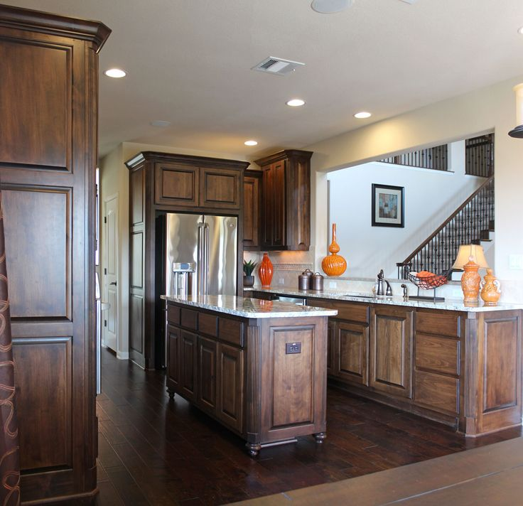 Stained Kitchen Cabinets: Burrows Cabinets Kitchen In Stained Knotty Alder, Island