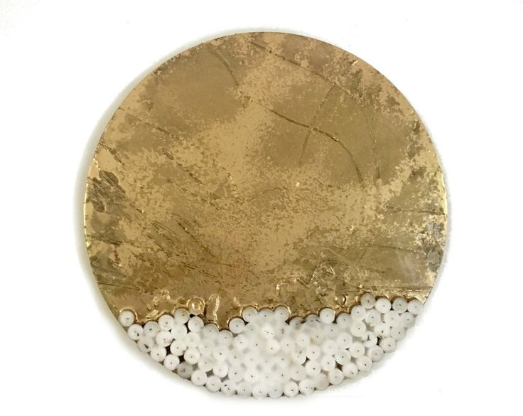 ELYSIAN FIELDS series by Imre Badonski | mixed media on wood, size 600mm diameter #collectart
