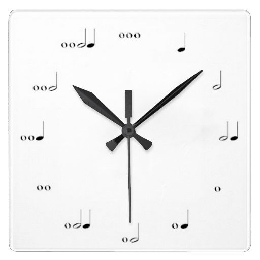 MUSICAL  NOTE  WALL CLOCK BLACK AND WHITE  By TJ Copyright © TJ Ro All Rights Reserved