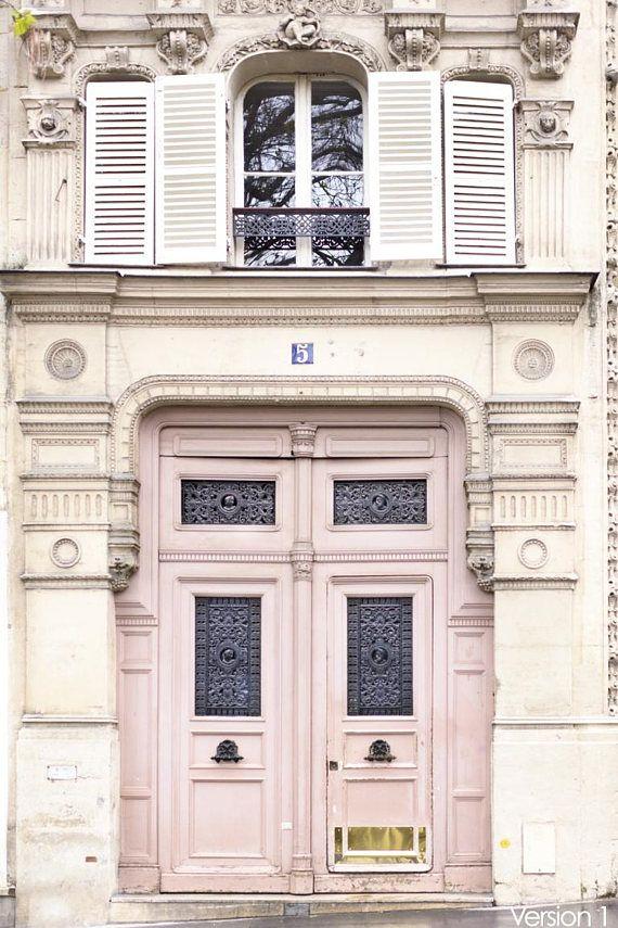 Paris Photography – Blush Door in the Latin Quarter, Paris Art Print, Fine Art Photograph, Large Wall Art, French Home Decor, Gallery Wall
