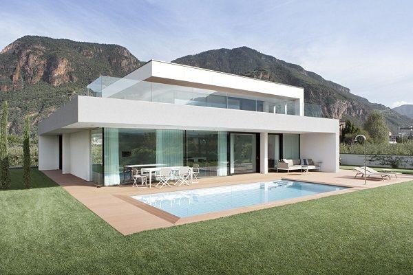 005 Planos de casa moderna modelo 2013 con iluminación perfecta sostenible verdadera elegancia Italiana