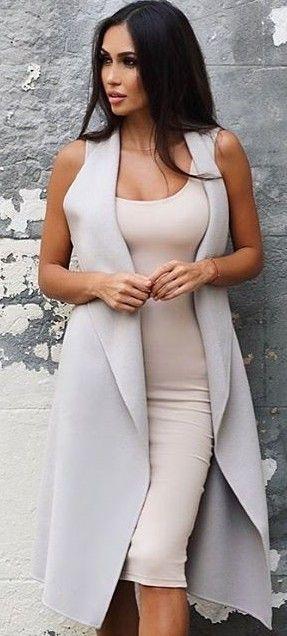 Pastel Colours Dress + Vest                                                                             Source