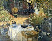 The Luncheon (Monet's Garden At Argenteuil)  by Claude Oscar Monet