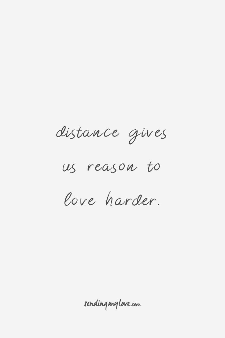 """Find quotes, relationship advice and gifts: www.sending-my-love.com """"Distance gives us reasons to love harder"""" - Long distance Relationship quotes -#LDRquotes"""
