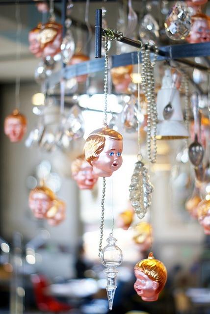 christmas chandelier @ Villa Augustus by wood & wool stool, via Flickr