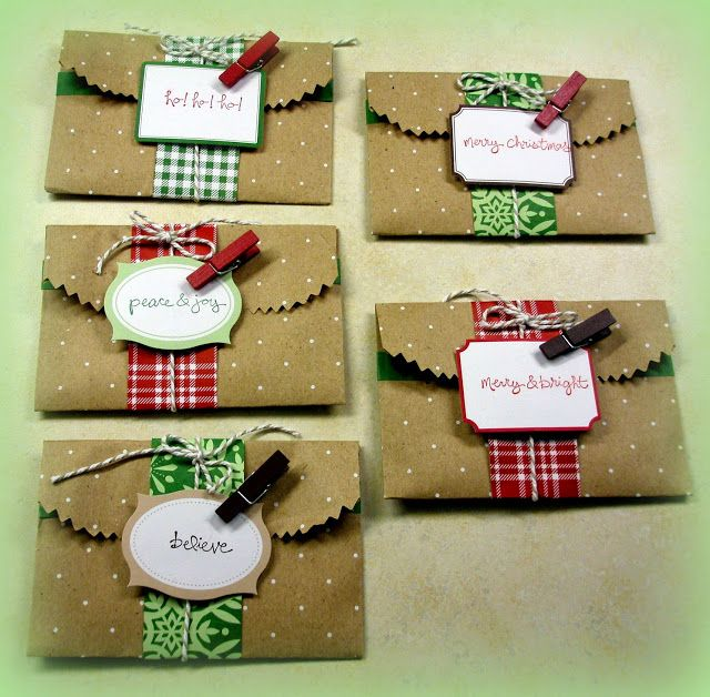 Stampin up christmas gift card holder ideas