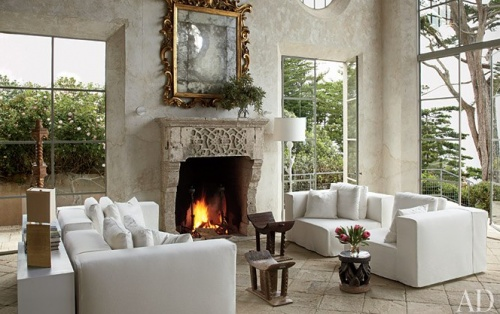 frescoed plaster wallsDecor, Living Rooms, Fireplaces, Livingroom, Living Room Wall, Interiors Design, Windows, Architecture Digest, Richard Shapiro