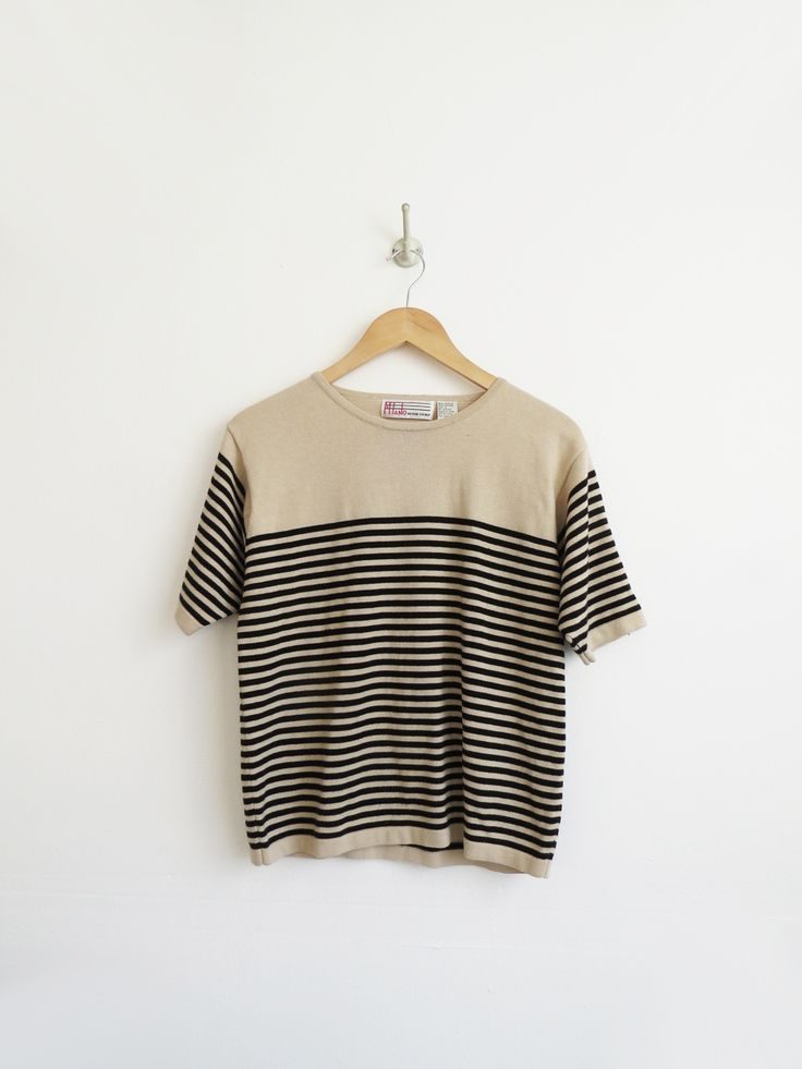 Striped Knit Tee // Vintage Knit Short Sleeve SOLD