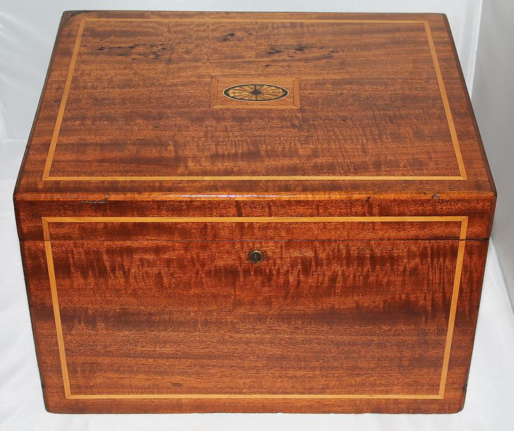 "CIRCA 1920s ANTIQUE 16"" x 13"" x 10"" CIGAR HUMIDOR. For Sale for $750 obo"