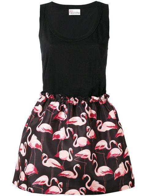 RED VALENTINO Flamingo Print Dress. #redvalentino #cloth #dress